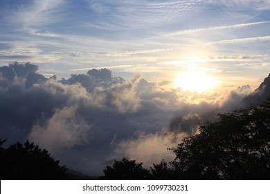 Dramatic sunrise & clouds of Alishan in Taiwan