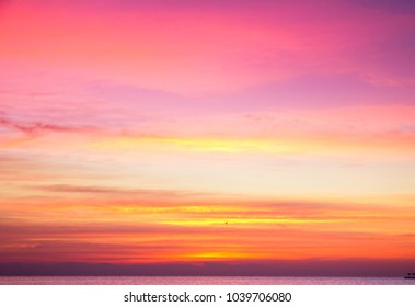 Dramatic Sunrise Sky With Clouds