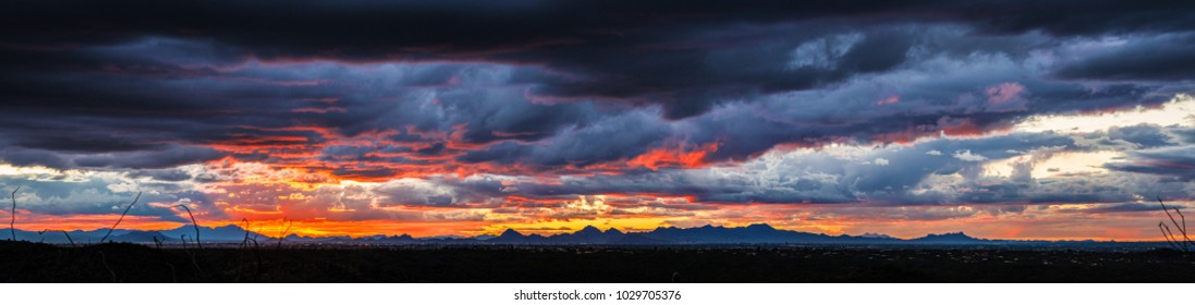 A Dramatic Sunset in the Arizona desert