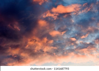 Dramatic sunset as a background
