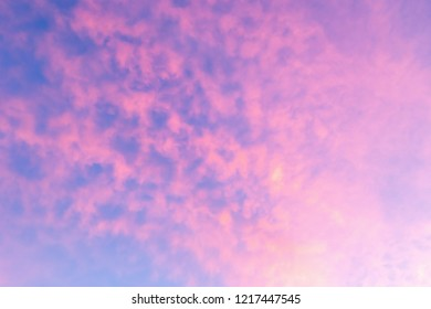 Dramatic of sunset with cloud sky background