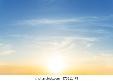 dramatic sunset evening sky background