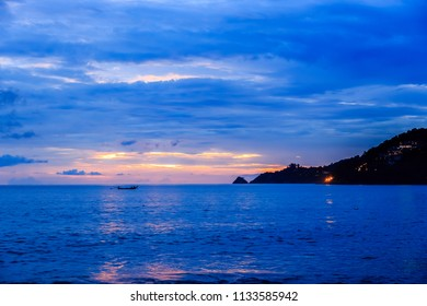 Dramatic Sunset at Kalim beach, Phuket, Thailand