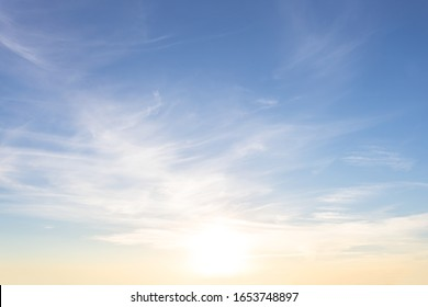 dramatic sunset over a cloudy sky, evening outdoor background