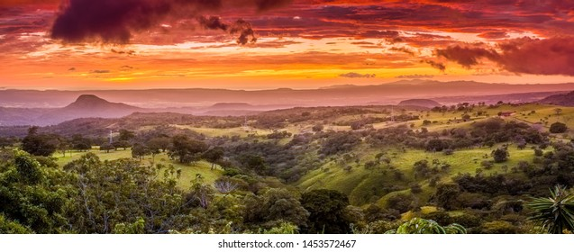 Dramatic sunset in Santa Rosa National Park in Costa Rica