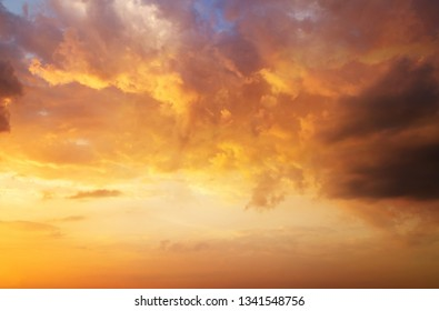 dramatic sunset sky clouds