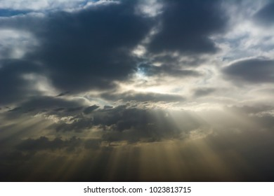 Dramatic sunshine through the clouds