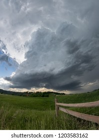 A dramatic supercell thunderstorm over the Black Hills in South Dakota
