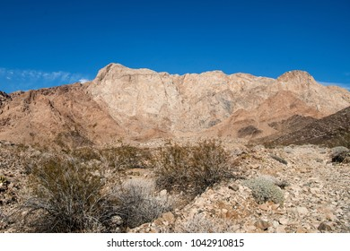 Dramatic View of Marble Mountains in Southern California along Route 66 and Interstate 40