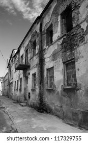 Dramatic View of an old  building in the Piotrkow Trybunalski city, Poland