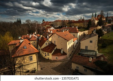 Dramatic view to Prague old town, Czech Republic, Europe