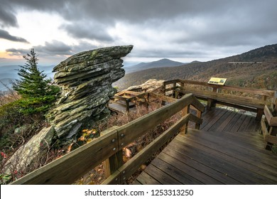 A Dramatic view from Rough Ridge Lookout , Blue Ridge Parkway
