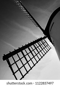 A dramatic view of the sails of the windmill on Lytham Green, Lancashire
