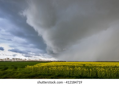 Dramatic weather front with storm risk