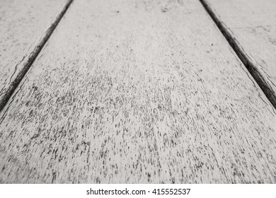Dramatic wooden background. Wooden background black and white. Table in perspective. Wood Texture, Wooden Plank Grain Background, Striped Timber, Old Table or Floor Board