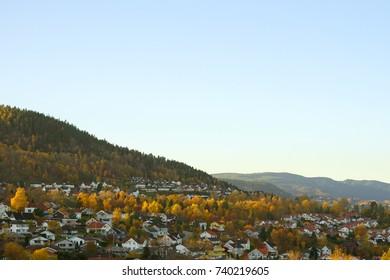 Drammen autumn landscape.