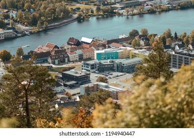 Drammen by in Norway