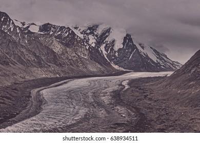 Drang-Drung Himalayan Glacier from Zanskar Western Indian Himalayas