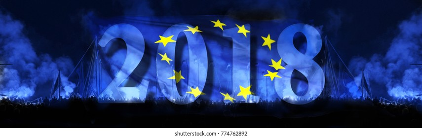 drapeau Europe 2018
