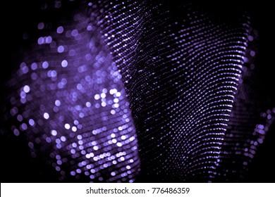 draped lurex fabric - ultra violet
