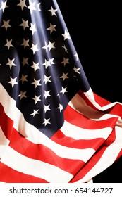Draped United States Flag
