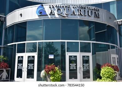 DRAPER, UT - AUG 29: Loveland Living Planet Aquarium in Draper, Utah, as seen on Aug 29, 2017. It currently houses 4,500 animals representing 550 species.