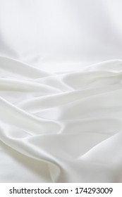 Drapery of white satin for background