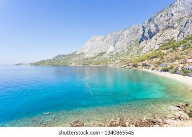 Drasnice, Dalmatia, Croatia, Europe - Overview across the beautiful bay of Drasnice