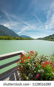 Drau river and drau cycle route
