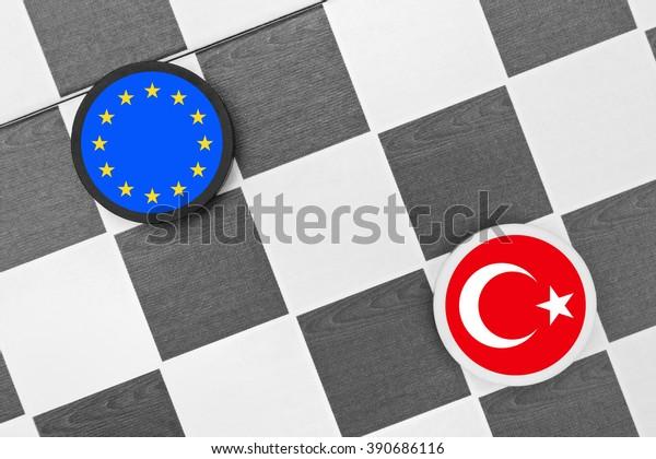 Draughts (Checkers) - European Union vs Turkey