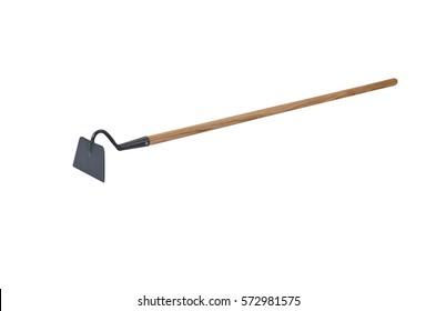 Draw hoe/digging tool isolated on white