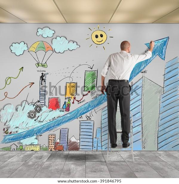Draw Innovative Ideas Stock Photo (Edit Now) 391846795