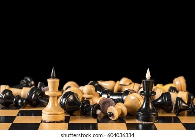 A draw, a stalemate in chess, two kings met after the war