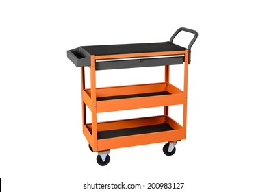 Drawer service cart Tool Cabinets on white background