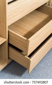 drawers in the furniture