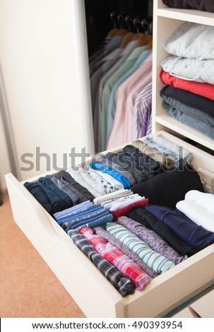 Drawers Mens Clothing Underwear Closet Mens Stock Photo Edit Now
