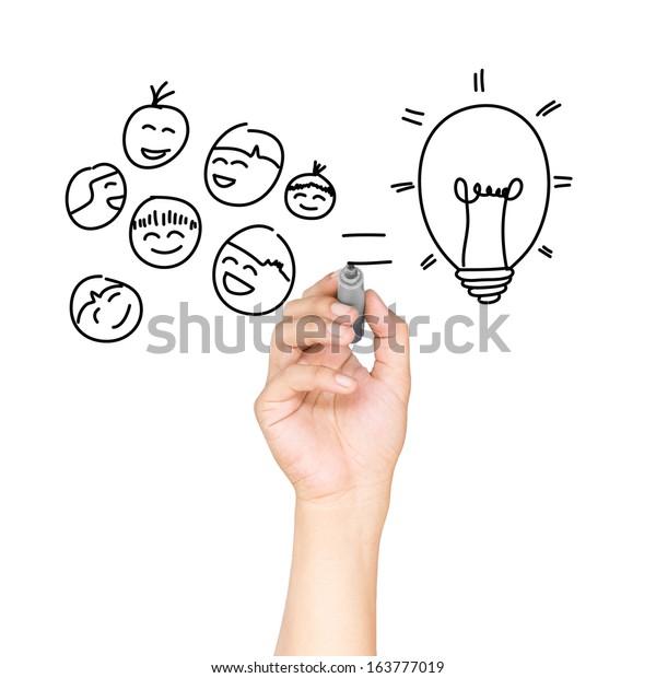 Drawing bulb light concept