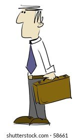 A drawing of businessman