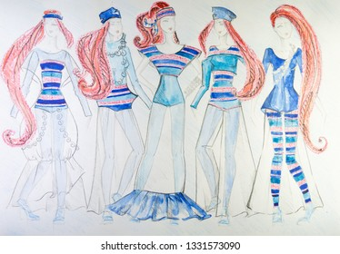Body Fashion Sketch Stock Photos Images Photography Shutterstock
