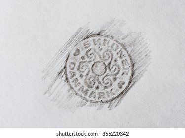 Drawing of a coin