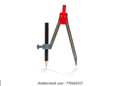 drawing compass,isolated on white background with clipping path.