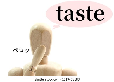 Drawing doll to check the taste