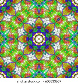 Drawing Floral Doodle G222 creativity drawing, Floral abstract background, Pattern for adult coloring book. Ethnic, floral, retro, doodle, tribal design element. Colorful background