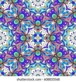 Drawing Floral Doodle G3 creativity drawing, Floral abstract background, Pattern for adult coloring book. Ethnic, floral, retro, doodle, tribal design element. Colorful background