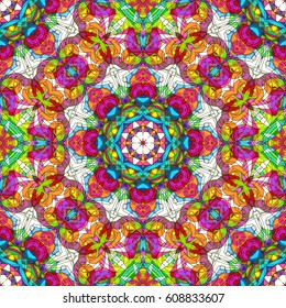 Drawing Floral Doodle G30 creativity drawing, Floral abstract background, Pattern for adult coloring book. Ethnic, floral, retro, doodle, tribal design element. Colorful background