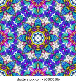 Drawing Floral Doodle G416 creativity drawing, Floral abstract background, Pattern for adult coloring book. Ethnic, floral, retro, doodle, tribal design element. Colorful background