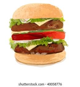 Drawing of a hamburger