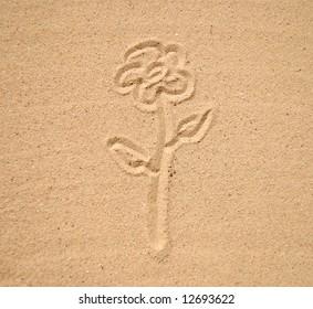 drawing on seashore