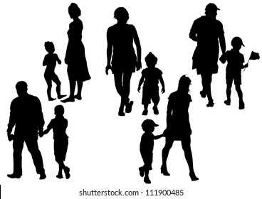 drawing parents and child