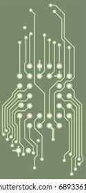 Drawing PCB (printed circuits board) - green